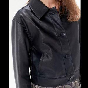 faux leather jacket/blazer